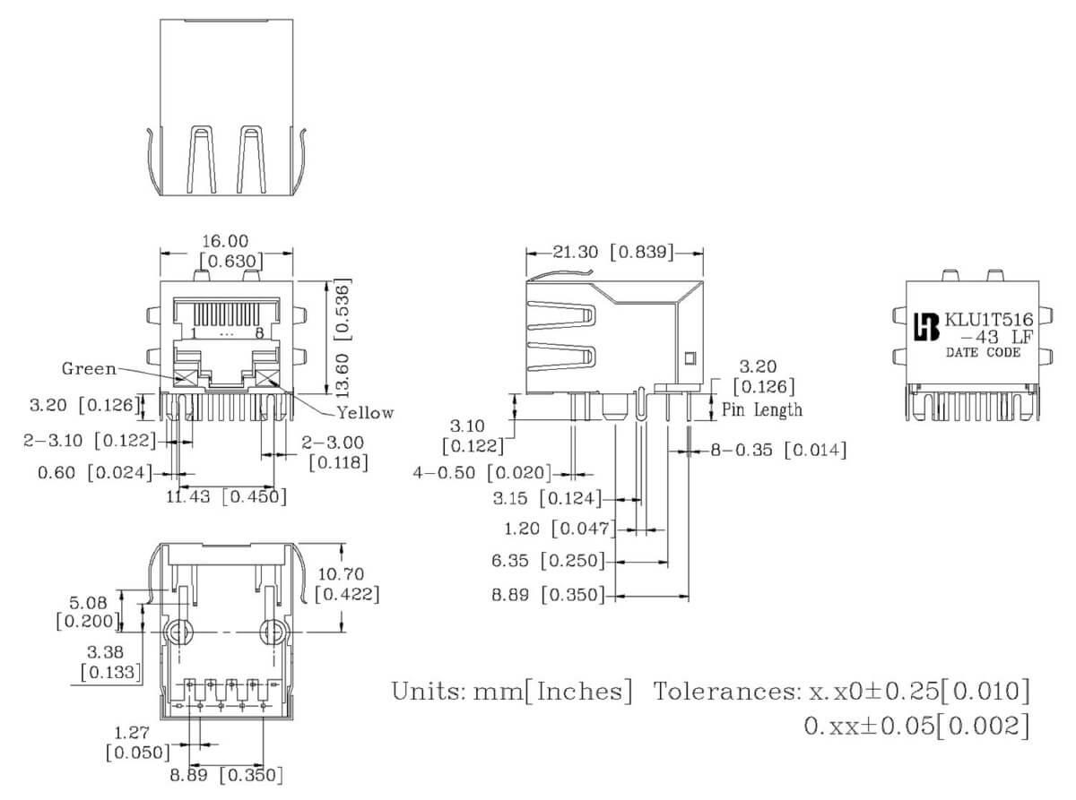 klu1t516-43 lf mechanical