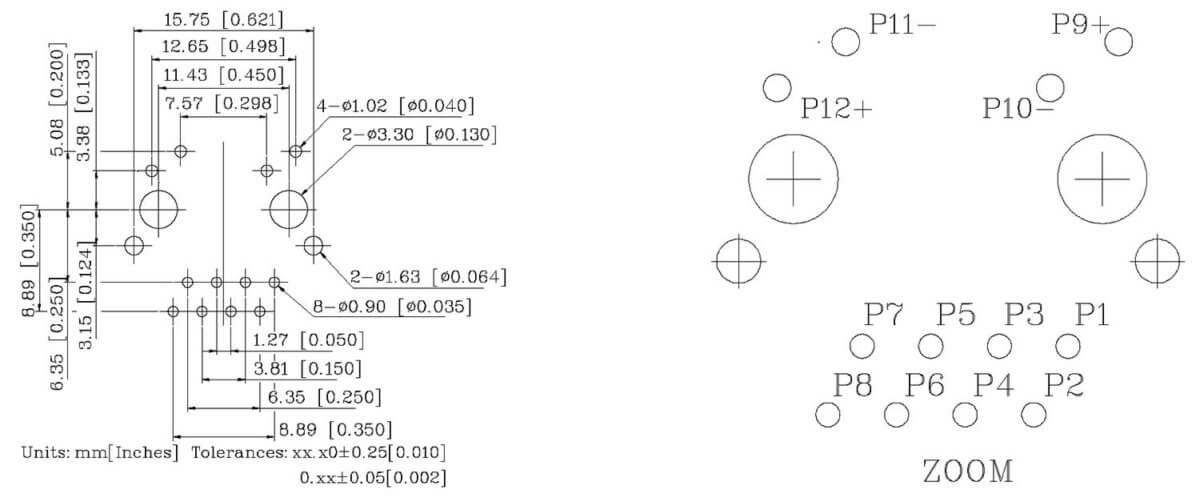 klu1t516-43 lf pcb layout mounting